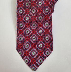Robert Talbott Red & Navy Floral Tie